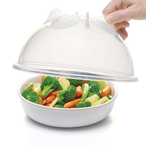 Progressive International PS-56C High Dome Microwave Food Cover, 10.25 inches, Clear