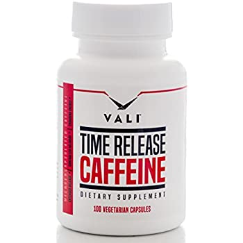 Time Release 100mg Caffeine Pills - Microencapsulated for Extended Energy, 100 Veggie Capsules. No Crash Controlled Delivery Brain Booster Supplement for Sustained Mental Performance, Focus & Clarity
