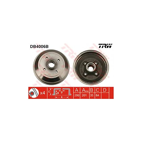 TRW DB4006B Brake Drums: