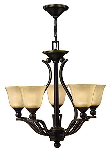 Hinkley 4655OB Transitional Five Light Foyer from Bolla collection in Bronze/Darkfinish, - Bolla Collection Outdoor Lantern