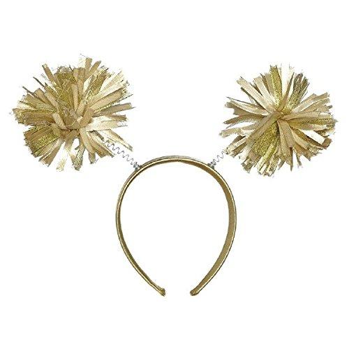 Amscan Pom Pom Headbopper, Party Accessory, Gold
