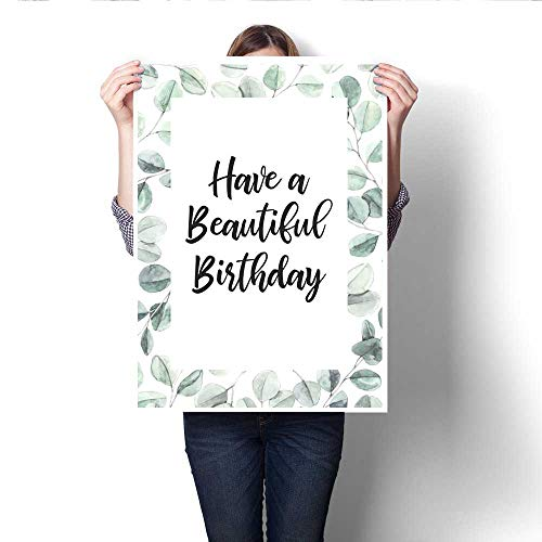 Wall Art Canvas Prints Watercolor illustration Botanical frame with eucalyptus leaves Herbal Floral Design elements Perfect for wedding invitations greeting cards blogs posters and more Print Paintin