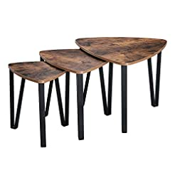 VASAGLE Industrial Nesting Coffee Table,...