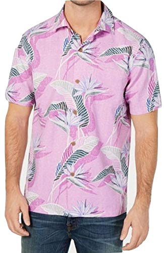 Silk Blend Camp Shirt - Tommy Bahama Island Zone South Pacific Paradise Silk Blend Camp Shirt (Color: Summer Plum, Size XXL)