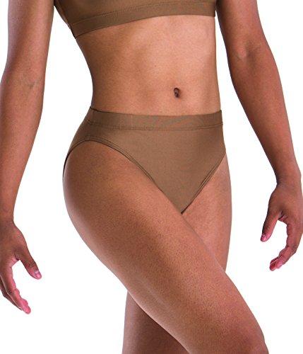 Motionwear Gymnastics Underwears Brief, Mocha, Medium - Briefs Gymnastics