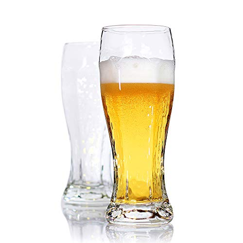- Bavel Pilsner Glasses for Urquell,16 oz,Wheat Beer Glasses,Crystal Clear,Better Head Retention Aroma and Flavor,for Craft,Drinking Lover - Set of 2 (16 oz)