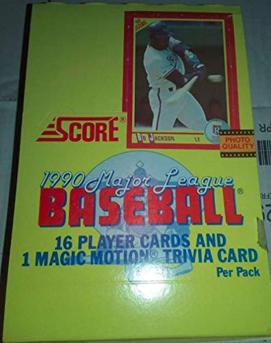 - 1990 Score Baseball Hobby Box (36 Packs/17 Cards)