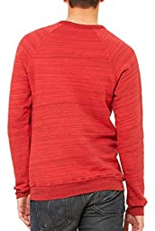 Canvas 3901 Unisex Sponge Fleece Crew Neck Sweatshirt, Deep Heather & Black, Large