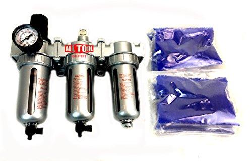 "NEW 1/2"" Compressed Air Filter Regulator/Desiccant Dryer/Coalescing Filter 3 Stages Combo"