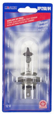 Wagner Federal Mogul/Champ BP1260H4 Motorcycle Replacement Bulb, BP1260/H4, 12V - Quantity 6