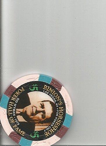 $5 binions horseshoe sid wyman poker oversized orange las vegas casino chip rare