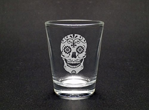 Sugar Skull 1 75 Oz Shot Glass