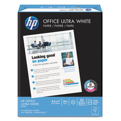 Office Ultra-White Paper, 92 Bright, 20lb, 8-1/2 x 11, 500/Ream, 10/Carton, Sold as 10 Ream