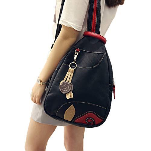 porté pour à Sac dos Noir femme Noir Tclothing Noir au main BY1tnRxxq