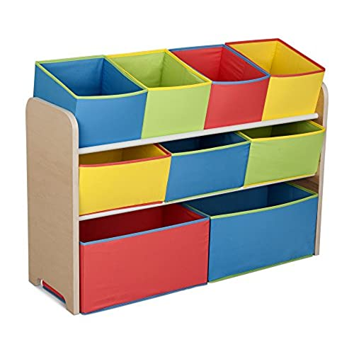 Delicieux Delta Children Multi Color Deluxe Toy Organizer With Storage Bins