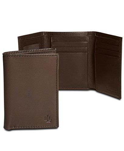 Lauren Ralph Lauren Mens Trifold Smoother Leather Brown Wallet (Polo Ralph Lauren Handbags)