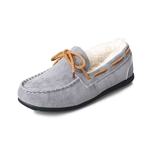 DaySeventh New Arrival Women Warm Flats Rubber Soft Casual Peas Flat Shoes Gray