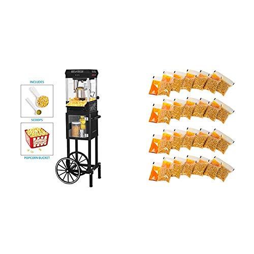 Nostalgia KPM200CTBK Vintage 2.5-Ounce Popcorn Cart with 24 4-Ounce Premium Popcorn, Oil & Seasonings  Packs by Nostalgia (Image #1)