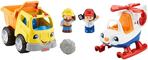 Fisher-Price Little People Dump Truck and Helicopter Set (Little People Dump Truck)