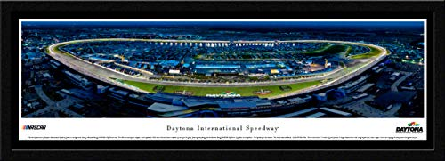 Daytona International Speedway - Night Race - Single Mat, Select Framed NASCAR Print by Blakeway Panoramas