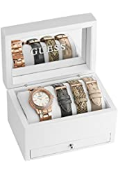 GUESS Rose Gold-Tone Classic Sparkle Watch Set