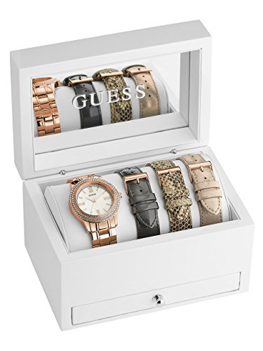 GUESS Women's Rose Gold-Tone Classic Sparkle Watch Set