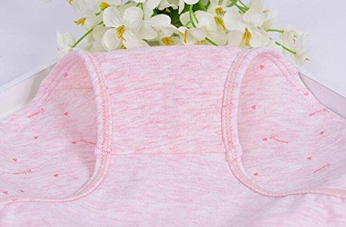 POKWAI Ropa Interior Chica Casual De Las Señoras Puras De La Entrepierna De Algodón En La Cintura De Los Pantalones Simples Triángulo Del Arco De Las Nalgas A1