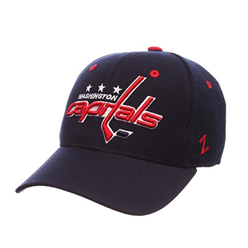 NHL Washington Capitals Men's Power Play Fitted Hat, Size 71/2, Navy