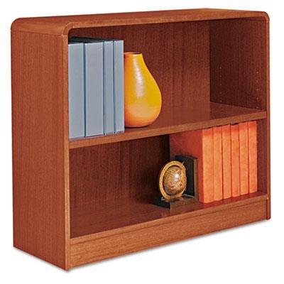 (Alera Radius Corner Bookcase, Wood Veneer, 2-Shelf, 36w x 12d x 30h, Medium Cherry, EA -)
