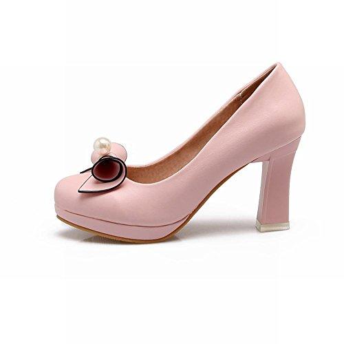 Latasa Mujeres Bow Zapatos De Tacón Alto Zapatos Pink