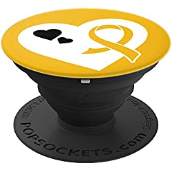 Neuroblastoma Awareness Gifts- Neuroblastoma Ribbon - PopSockets Grip and Stand for Phones and Tablets