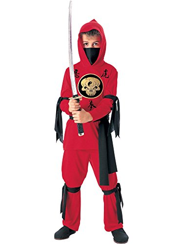 Halloween Concepts Child's Red Ninja Costume, Small -