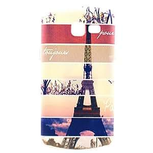 20150511 torre Eiffel patrón de diseño de la cubierta del estuche rígido de rayas para samsung s7390 tendencia Galaxy Lite / s7392