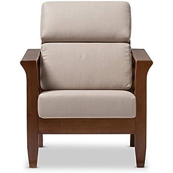 Amazon Com Baxton Studio Larissa Upholstery Lounge Chair