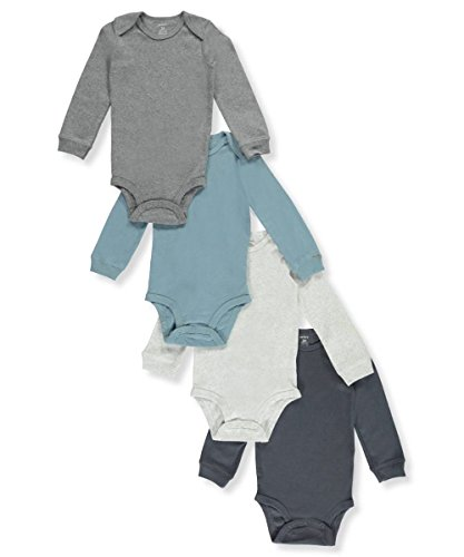 Carter's Baby Boys' 4-Pack Long Sleeve Original Bodysuits 24 Months