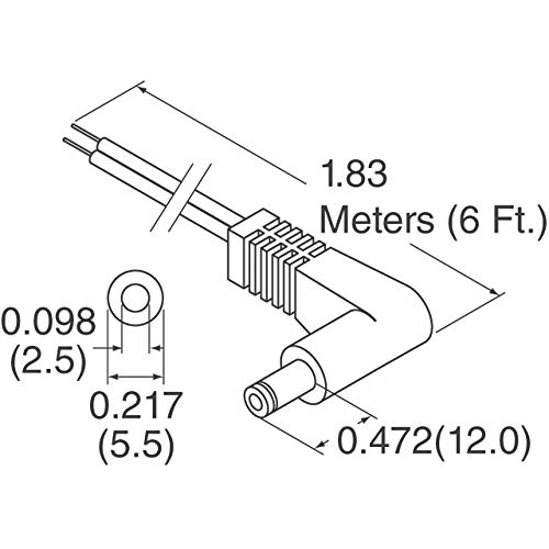 Cable Assy Ra 2 5mm 6 24 Awg Pack Of 1 Ca 2188