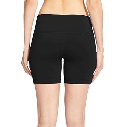 Baleaf Women's High Waist Yoga Shorts L