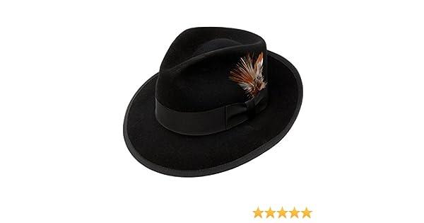 fd3f495cd294a Stetson Whippet Fur Felt Fedora Hat at Amazon Men s Clothing store