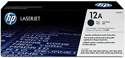 HP Q2612A Cartucho de Tóner para Laserjet Series 1010, negro