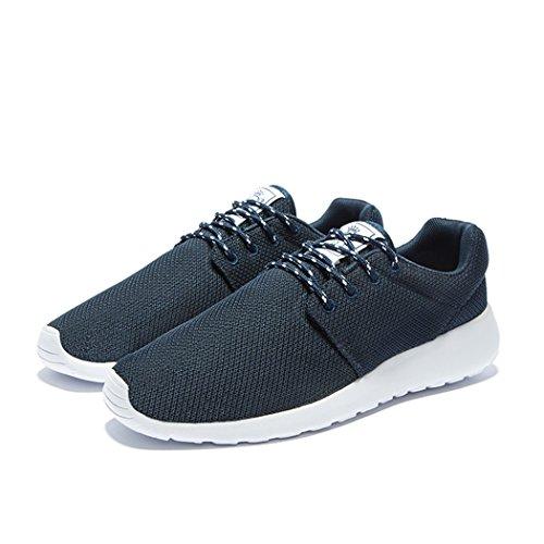 FENGDA Herren Laufschuhe Outdoor Athletic Freizeit Walking Sneakers Dunkelblau