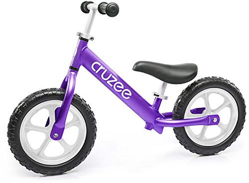 Cruzee Ultralite Balance Bike (4.4 lbs) for Ages 1.5 to 5 Years | Purple - Best Sport Push Bicycle for 2, 3, 4 Year Old Boys & Girls– Toddlers & Kids Skip Tricycles on The Lightest First Bike by Cruzee (Image #1)
