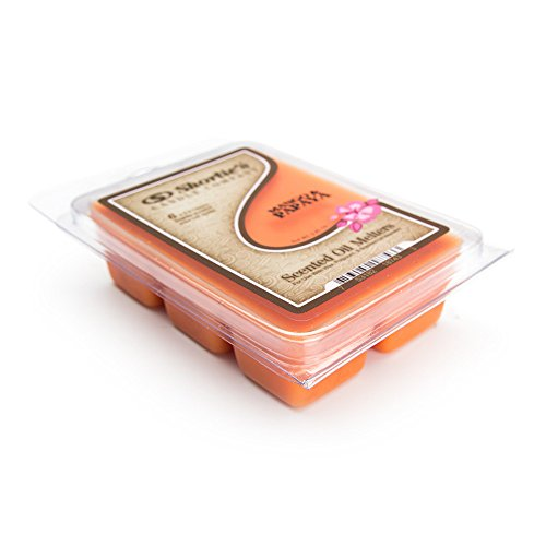 Shortie's Candle Company Mango & Papaya Wax Melts - 1 Highly Scented 3 Oz. Bar - Made with Natural Oils - Fruit & Berry Air Freshener Cubes Collection