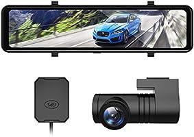 AKEEYO ドライブレコーダー ミラー 長方形 11.88インチ 前後 2カメラ 1080P デジタルインナーミラー GPS 全国信号機対応 32GB micro SD同梱 HDR ドラレコ IPSタッチパネル ループ録画 衝撃感知...