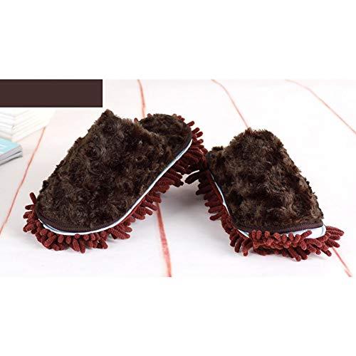 Fourure Peluche pour Pantoufles colinsa Automne Marron Hiver Doublée Coton Chaussures Ergonomique Femme Slippers Homme Thermique Chaussons Accueil de 8fxnxqHC