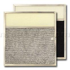 "Aluminum/Carbon/Lens Range Hood Filter -11 1/2"" x 11 3/4"" x 3/8"" - 4"" Lens"