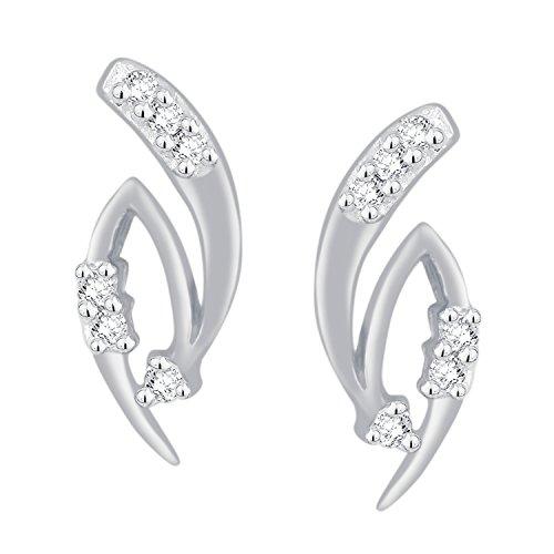 Giantti 14carats Diamant pour femme Boucles d'oreille à tige (0,072CT, VS/Si-clarity, Gh-colour)