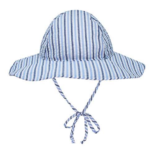 BELLEBEAUTIE Baby Floppy Wide Brim Sun Hat Kids Breathable Cotton Seersucker UPF 50+ Sun Protect Hat(10 Colors)