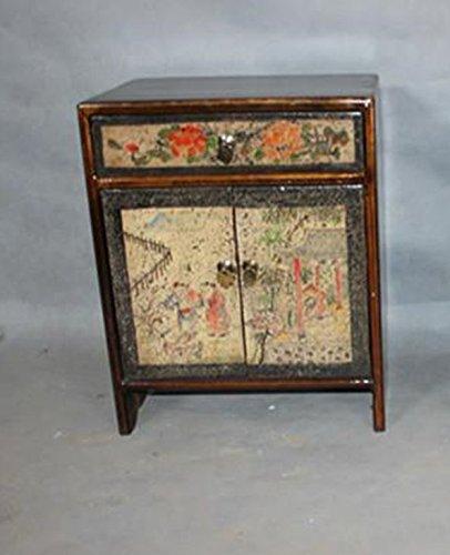 Comodino cinese mobili comodino piccolo stile antico armadio dipinto ...