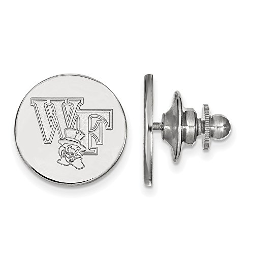 Sterling Silver LogoArt Official Licensed Collegiate Wake Forest University (WFU) Lapel Pin by LogoArt