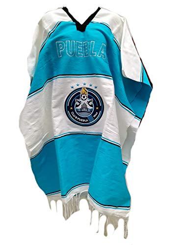 Textiles Mexicanos Mexican Soccer Teams Poncho Cobija Blanket (Puebla)
